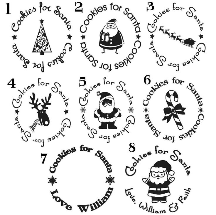 Cookies for Santa Vinyl Decal plates. Who wants to make one with me?
