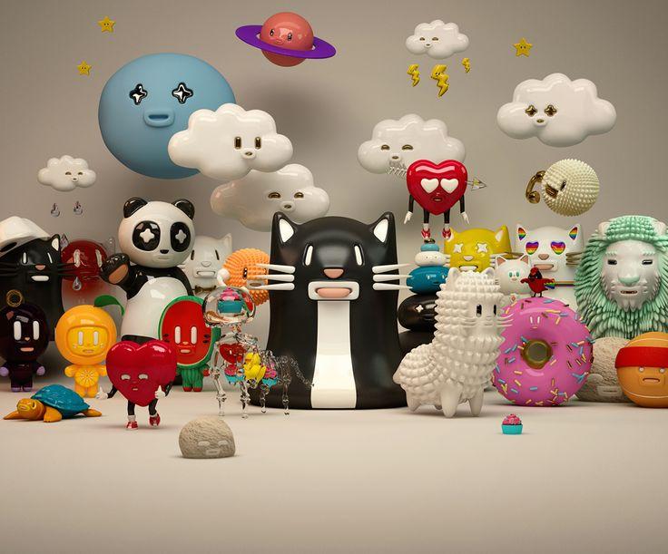 Mr. Kat & Friends collection 01 on Behance