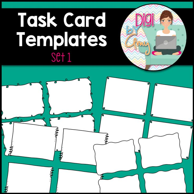 Task Card Frames and Borders SET 1 - Template