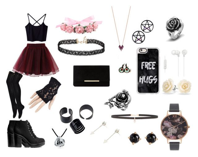 """Goth princess^^"" by guns-nicole-roses on Polyvore featuring Chicwish, Marina Fini, Topshop, Casetify, Black, Dune, Miss Selfridge, Sony, Carbon & Hyde and Bling Jewelry"