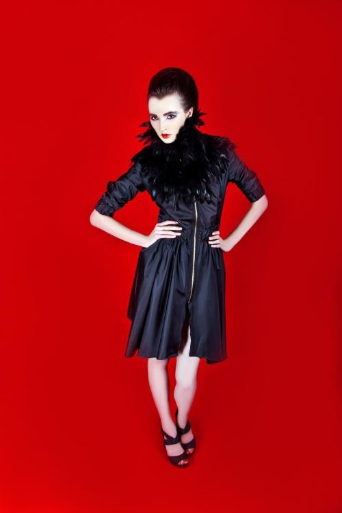 JOANNA HAWROT's limited edition black nylon coat at vespoe