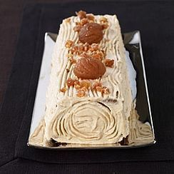 Bûche de Noël crème mascarpone et marron glacé