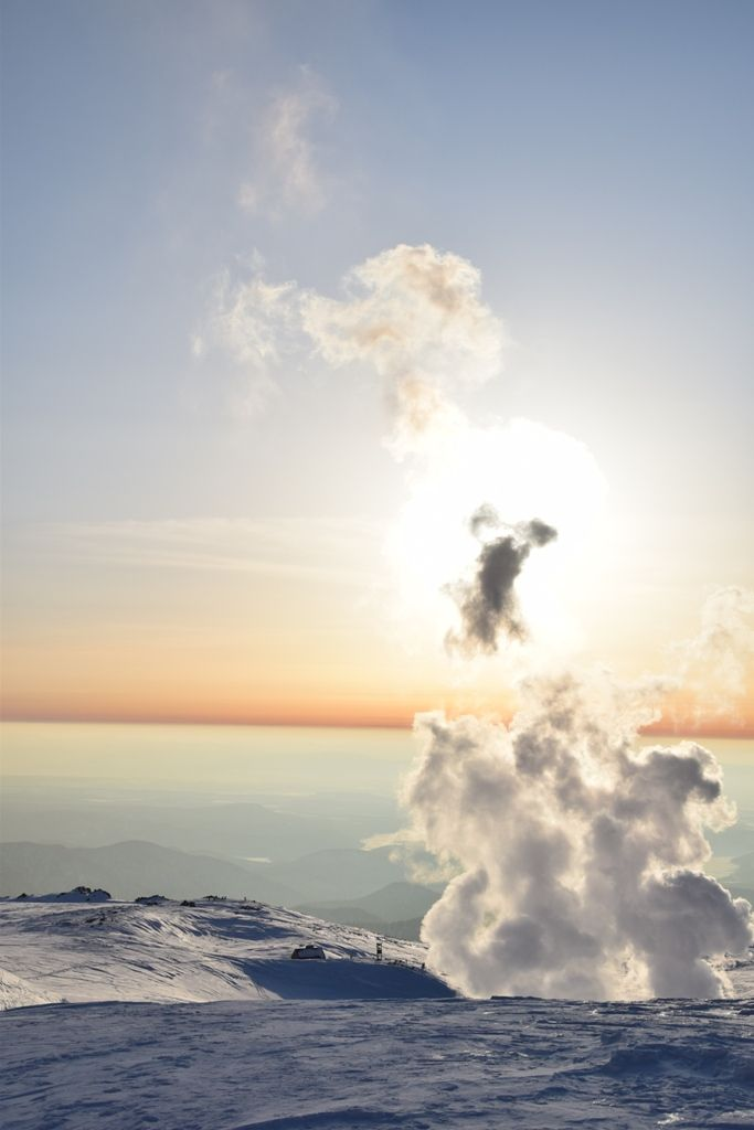 Sunset on Asahidake volcano, Japan