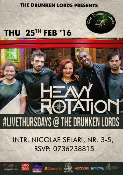 TONIGHT!!! 22:00, Heavy Rotation at The Drunken Lords! #HeavyRotation #DrunkenFriends #DrunkenMusic #BeDrunken #JoinUs  Bookings: 0736 238 815