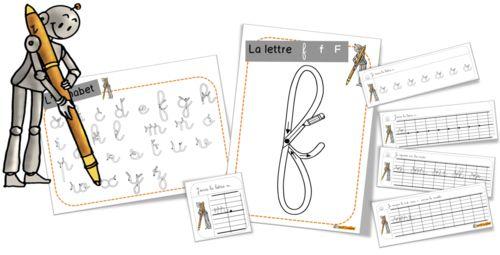 Le fichier des lettres de A à Z:  Ecriture Lettres géantes pour pâte à modeler, feutre magique OK OK OK