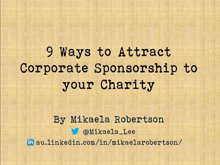 9 ways to attract corporate sponsorship to your charity
