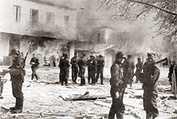 June 10, 1944,  Massacre at Distomo during the last months of the German occupation of Greece. German soldiers in action. The present German High Court considers the massacre an act of self defence!..