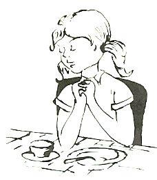 bidden voor het eten