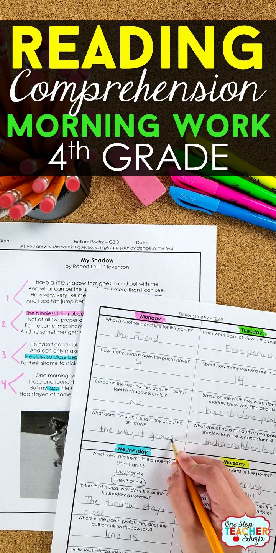 4th Grade Reading Homework: 4th Grade Reading Comprehension