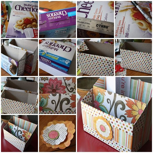 Wonderful DIY Organizer from cereal box | Corn flakes, The ...