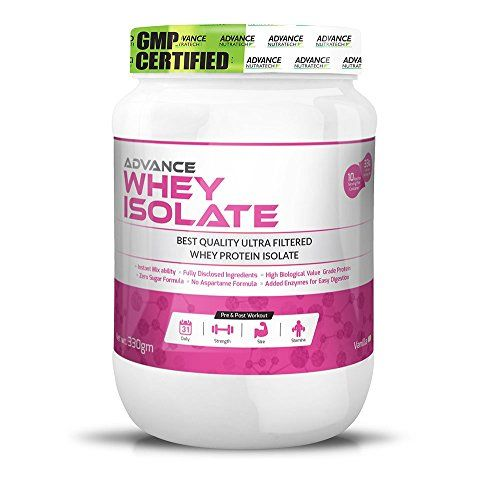 ADVANCE NUTRATECH Whey Isolate Protein Powder 330 gm (0.72 LBS) 10 Servings Of 33gm Each Vanilla * Click image for more details.