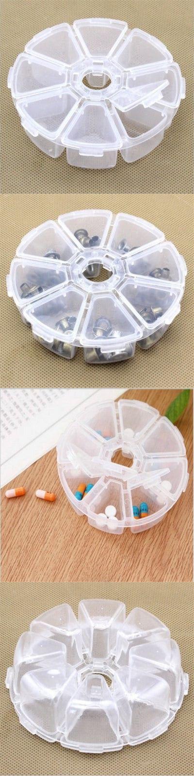 8 lattice plastic multi-functional receiving box 10CM X 10CM X 2.5CM-$1.4