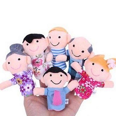 miembros de la familia del bebé títeres de dedo bebé contar historias Helper metió muñecos de peluche educan niños juguete de regalo de Navidad - EUR € 18.99