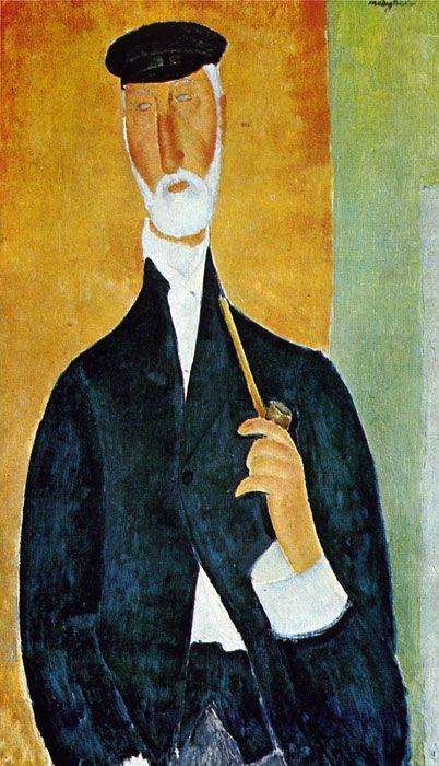 Amedeo Modigliani Man with Pipe 1918