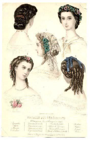 1860's evening hair