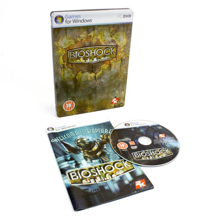 Bioshock Steelbook Edition for PC DVD-ROM by 2K Games, 2007, VGC, CIB