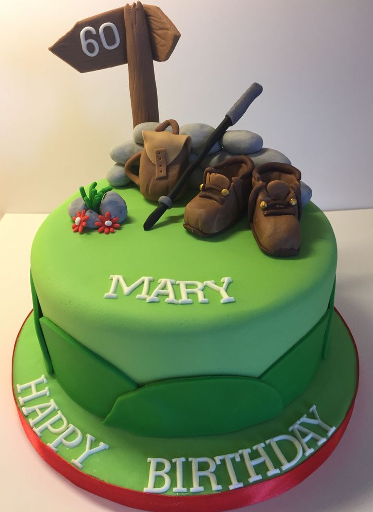 60th Birthday Cake For A Lady Who Loves Hill Walking