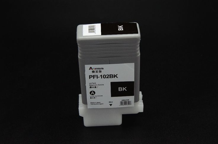 2pcs PFI-102MBK Matte Black Ink Tank 130ML for Canon Plotter printer 500 600 700 Models IPF510 iPF610 iPF710 iPF605 iPF720