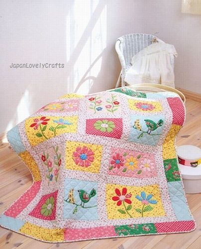 Happy quilt, with sweet colours