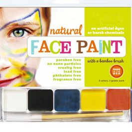 Natural Face Paint. Safest face paint on the planet! Made with organic jojoba oil and natural mineral pigments. $14.95Nature Face, Organic Ingredients, Painting Sets, Facepaint, Organic Face, Kids, Face Painting, Halloween, Globs Nature