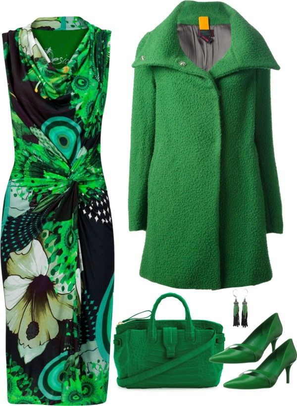 Desigual Uralet Dress...greens are definitely one of my favorites colours ♡