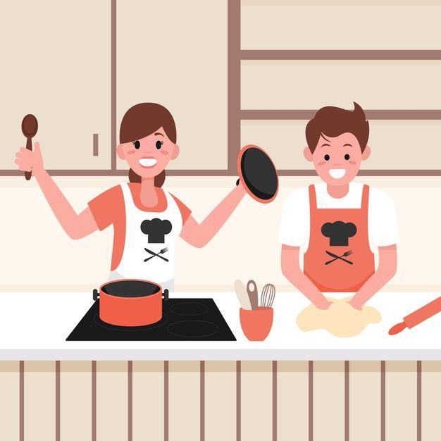 Gente Cocinando Juntos Free Vector Freepik Freevector Personas Mujer Hombre Cocina Cocinar Juntos Vectores Gratis Libretas De Dibujo