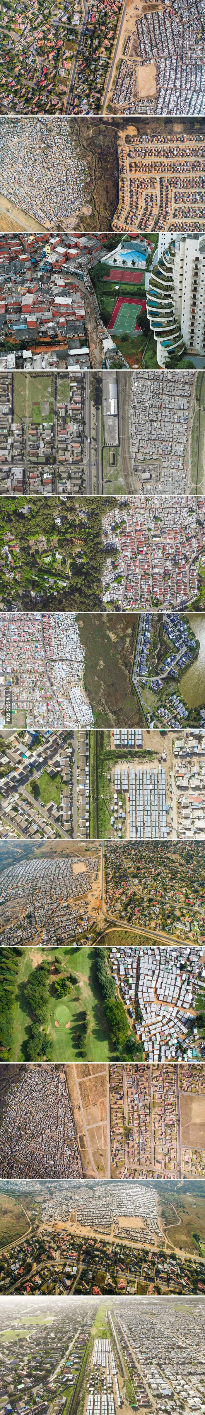 The Lines Dividing The Rich And Poor Captured With Drones