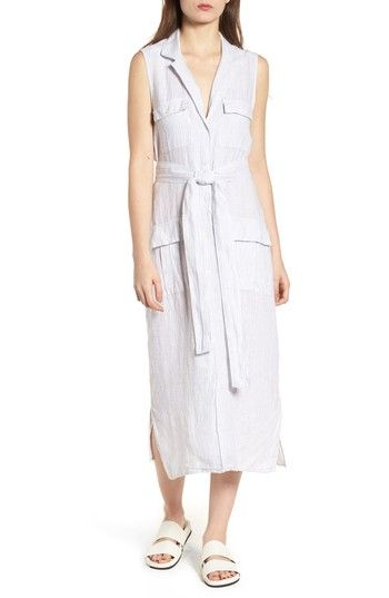 04fe58dff8 JAMES PERSE STRIPE LINEN SHIRTDRESS.  jamesperse  cloth
