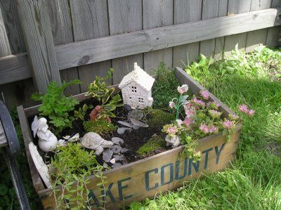 A fun little fairy garden, by icecovered