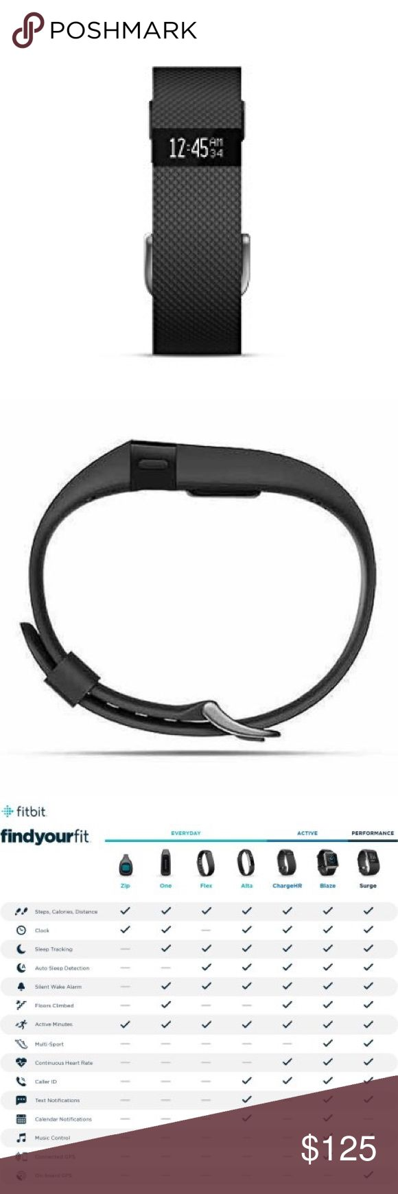 Fitbit Charge HR BRAND NEW Brand new Fitbit Charge HR! I recently bought this watch and have decided I rather buy an Apple Watch, but I do not have the receipt to return this Fitbit. Selling with the charger and have not opened box. Feel free to contact me with questions! fitbit Accessories Watches