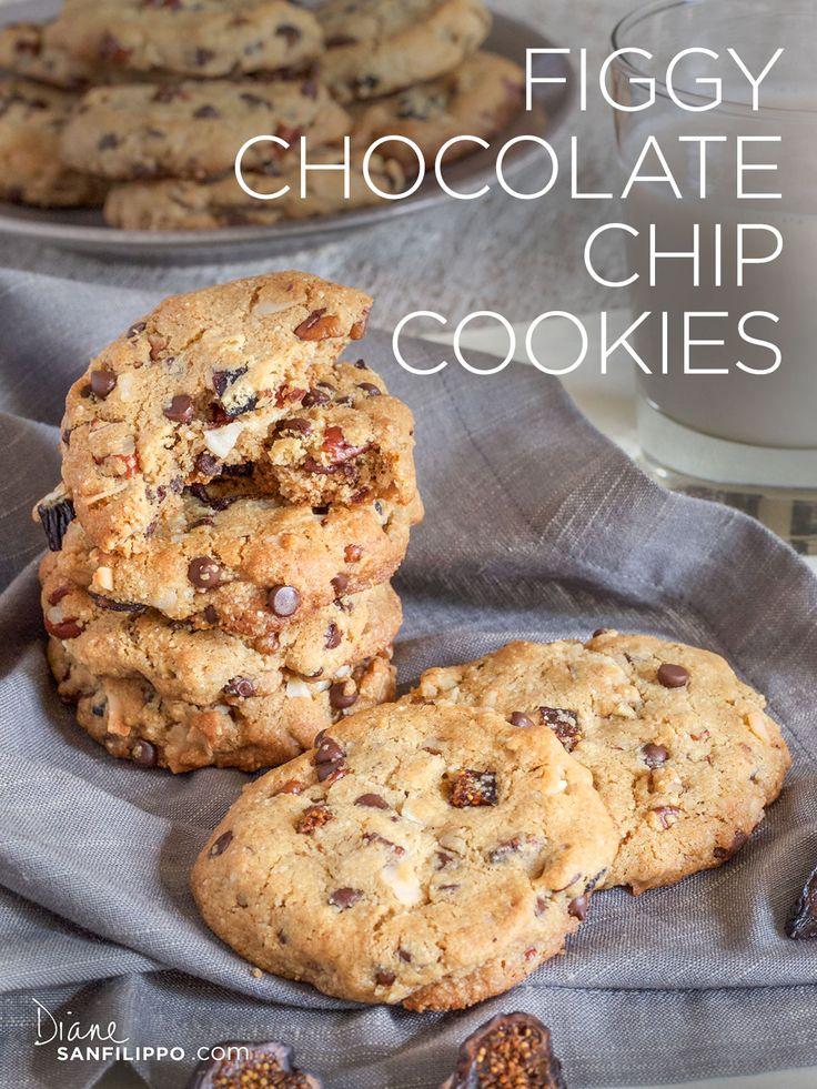 Figgy Chocolate Chip Cookies   Balanced BItes   Diane Sanfilippo