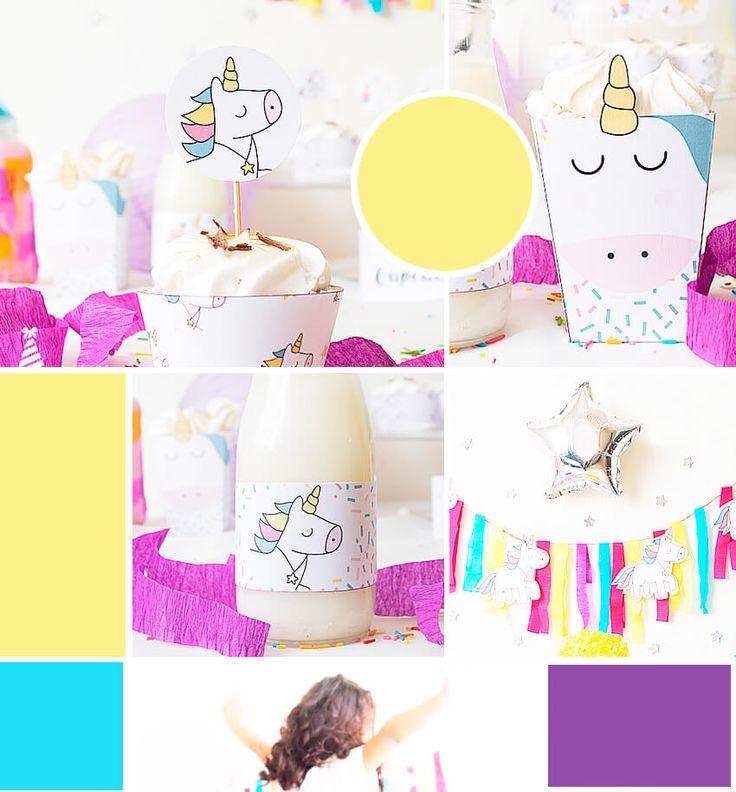 moodboar kit printable unicorn