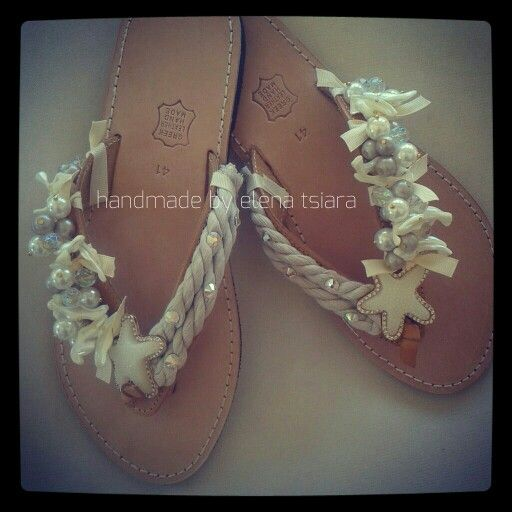 Handmade Greek sandals with starfish and small swarovksi.♥availiable in many sizes* ship everywhere! Contact me at FB page: elenas sandals