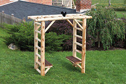 cedar log and reclaimed barn wood secret garden arbor with. Black Bedroom Furniture Sets. Home Design Ideas