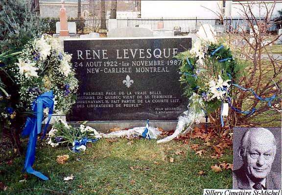 René Levesque (1922 - 1987) One-time leader of the pro-independence Parti Québécois in Quebec, Canada
