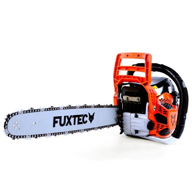 Motorová pila FUXTEC KS162 o obsahu 61,5cm³ (3,2PS / 2,3kW). Lišta 18″ (řezná délka 45 cm). Ideální partner pro pracovníky v zemědělství i domácí kutily. Má dostatečný výkon pro kácení, řezání palivového i stavebního dřeva. Emisní norma Euro2.