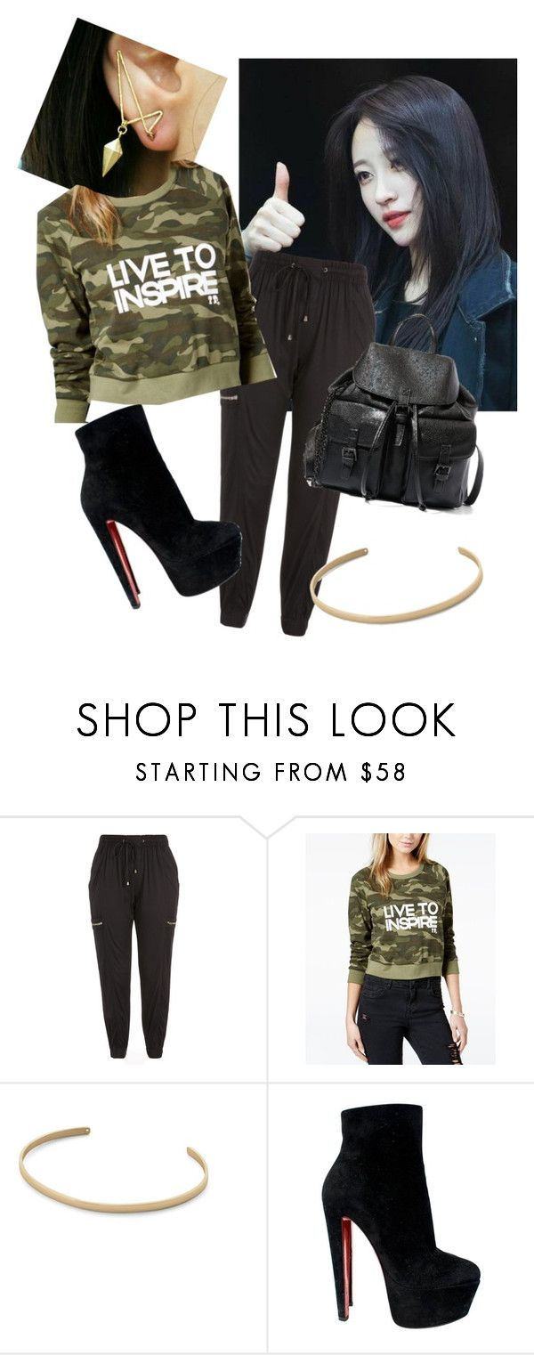 """""""boymeetsgirl5"""" by kimyeonwoo ❤ liked on Polyvore featuring City Chic, Boy Meets Girl, Ekria, Christian Louboutin, Steve Madden and plus size clothing"""