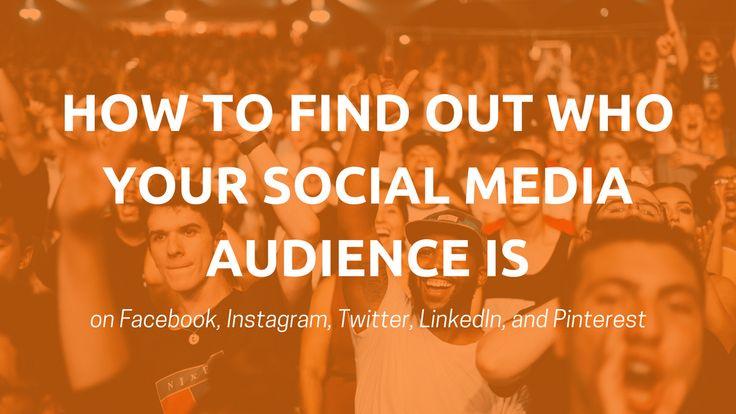10 Free #Tools to Help You Understand Your #SocialMedia Audience https://blog.bufferapp.com/social-media-audience?utm_content=buffere45e4&utm_medium=social&utm_source=pinterest.com&utm_campaign=buffer
