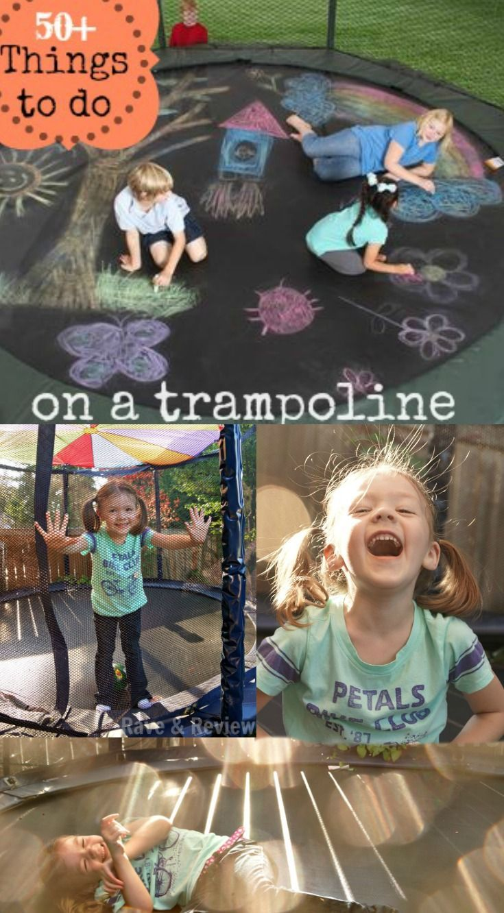 Best list of trampoline activities! 50  things to do on a trampoline!