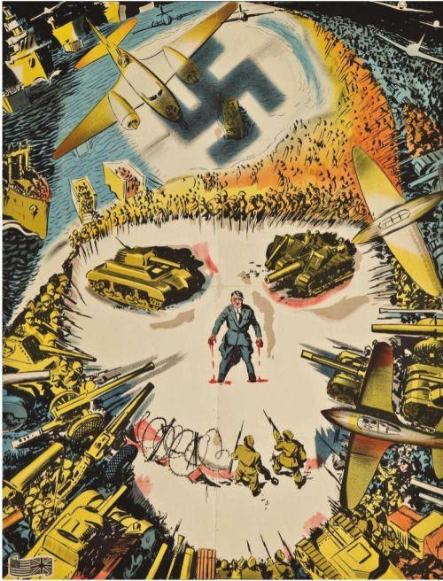 vintage Yugoslav world war ii propaganda poster