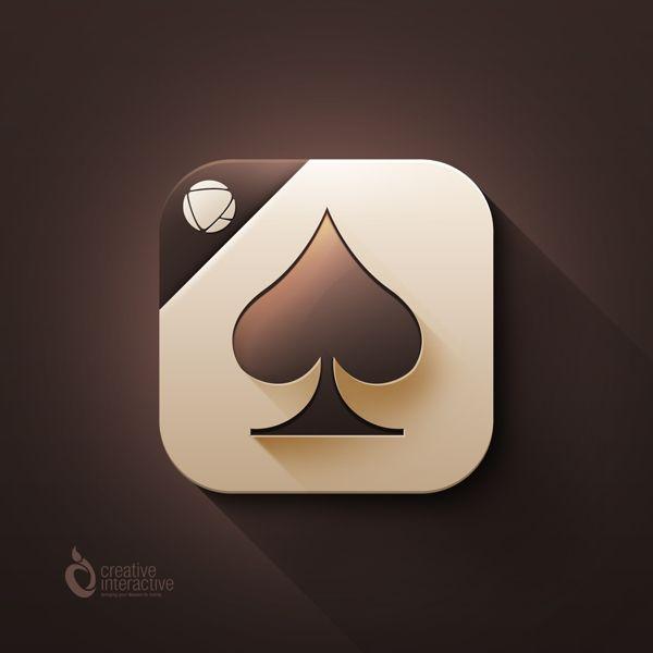 Spades Game App Icon by Reznik Umar, via Behance