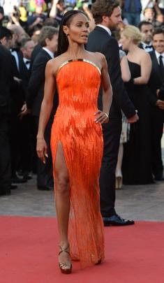 Jada Pinkett Smith - Atelier Versace: Orange, Fashion, Style, Atelier Versace, Dress, Red Carpet, Jada Pinkett Smith, Black Women