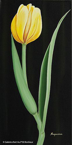 Dennis Magnusson, 'Yellow Solo', 12'' x 24'' | Galerie d'art - Au P'tit Bonheur - Art Gallery
