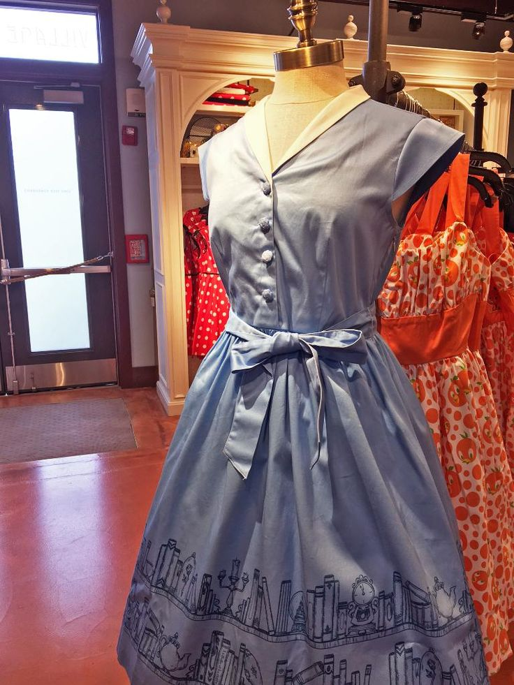 Disney just opened a dress shop for adults and the vintage styles, inspired by Disney characters and rides are ADORABLE! I NEED this Belle & Her Books dress!