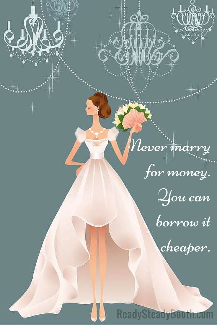Why you should never marry for money... #Melbourne #photobooth #Australia #wedding #giveaway
