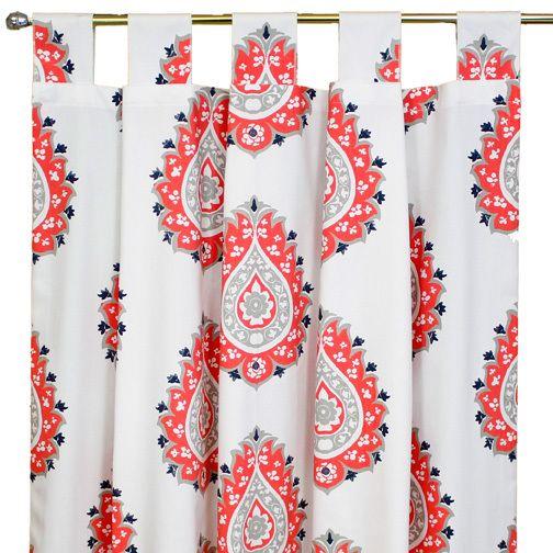 Sweet Kyla - CORALEE Long Nursery Drapes - Coral Damask  (Set of 2), $175.99 (http://www.sweetkyla.com/coralee-long-nursery-drapes-coral-damask-set-of-2/)