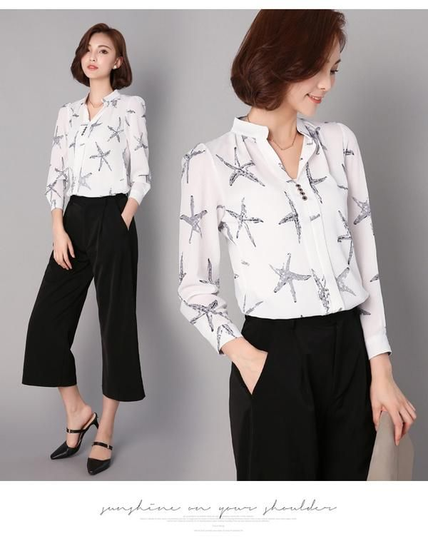 52b0add6cd23 2019 Fashion Blouse Women Shirt Long Sleeve Chiffon Floral Print Office  Shirt Ladies Top Female Clothing Blusas Plus Size 3XL H2