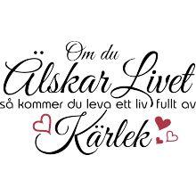 Om du älskar livet