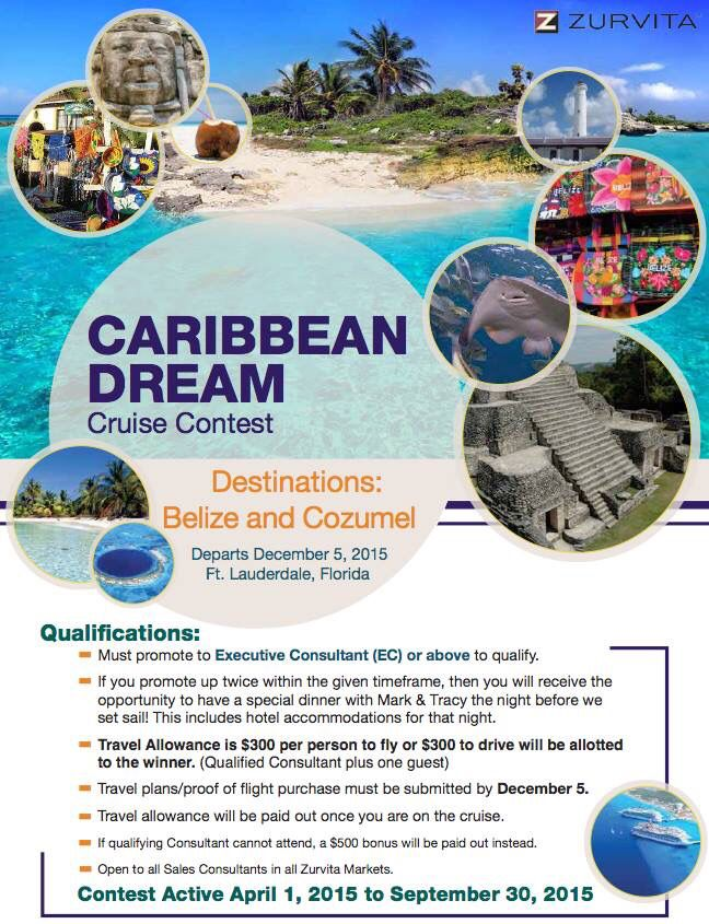 Zeal cruise  - reach Executive Consultant between 1 April and 30 September 2016
