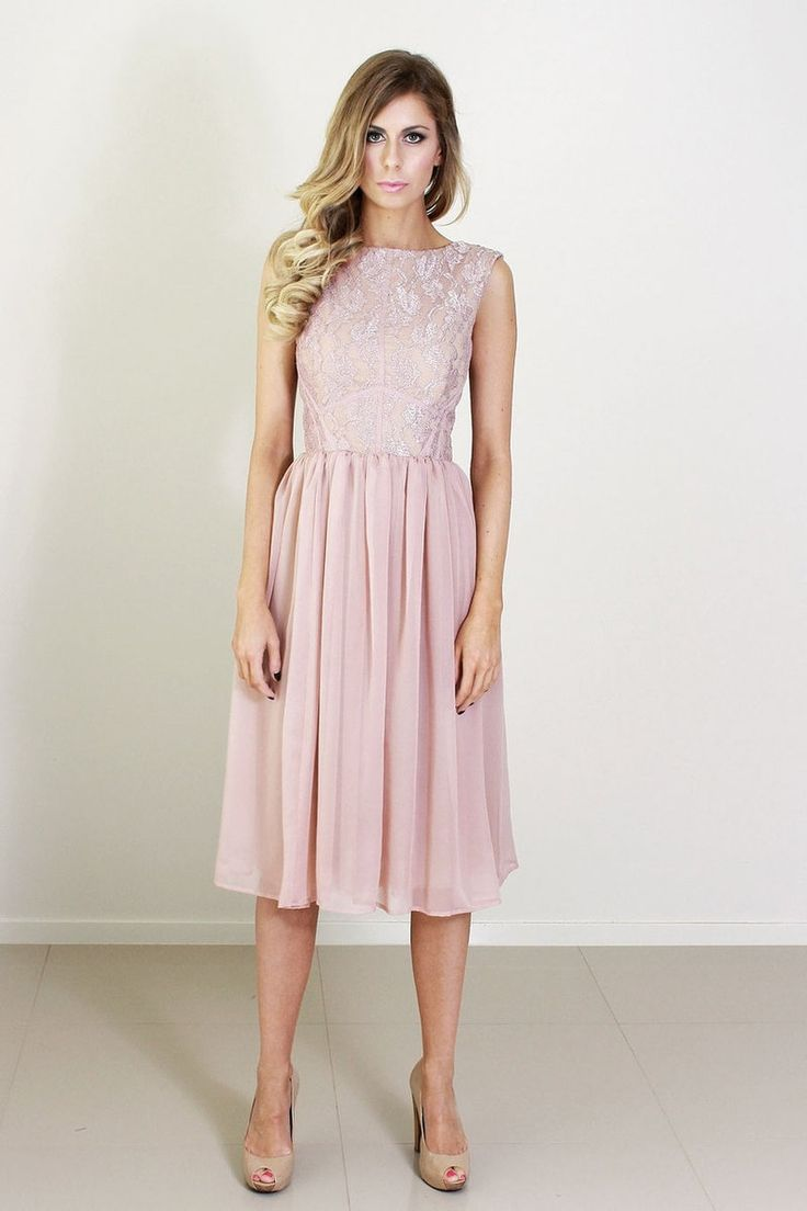 13 best vintage short bridesmaid dresses images on pinterest katherine dusty pink lace and silk bridesmaid dress knee length ombrellifo Choice Image
